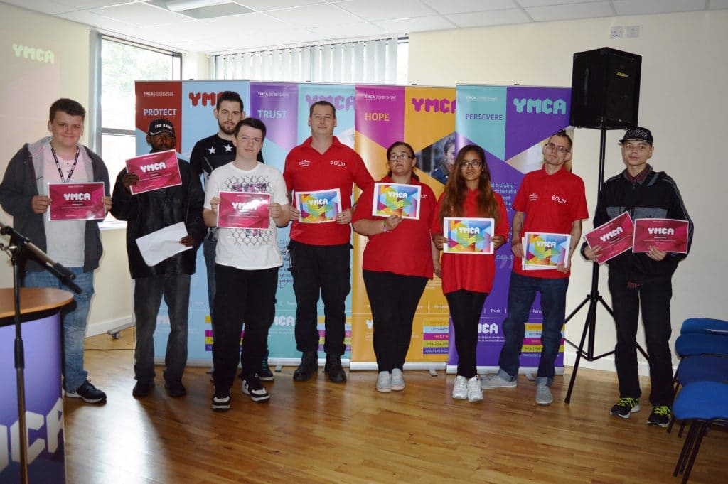 Young people at YMCA Derbyshire annual celebration event